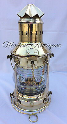 Vintage Antique Attractive Hanging Lantern Decorative Brass Oil Lamp Home Decor