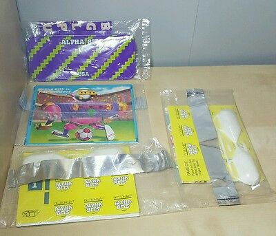 1980s Alpha Bits Cereal Premiums Prizes - Bicycle License Plate + More - lot d2d