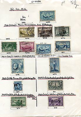 Sheet of CANADA stamps 1940s