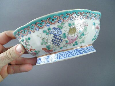 Fine Old Chinese 19th/20th Porcelain Family Rose Bowl Scholar Work Of Art