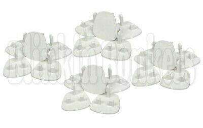 20 X Plug Socket Covers Babies Children's Safety Protector For Uk 3 Pin Sockets