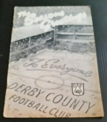 Derby County v Sheffield United Programme 19/12/59