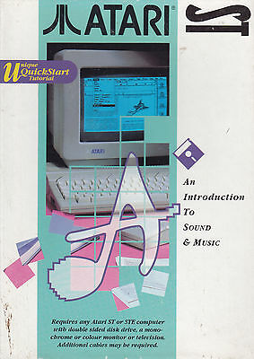 Atari St Introduction to sound & music software with sample cartridge