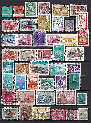 Hungary Wide Ranging Stamp Selection 2 SCANS (Hu28123)