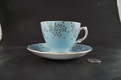 Antique  Colclough Robin Egg Blue With Gold  Cabinet Tea Cup And Saucer
