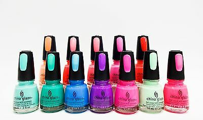 China Glaze Nail Polish Color Summer Neons Collection Variations # 1083-1094