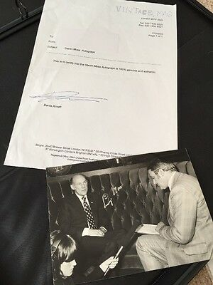 Sterling Moss Signed B&W photo