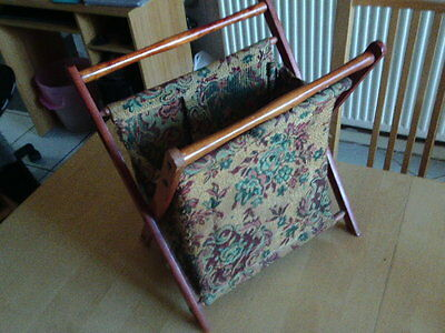 Tapestry Wooden Framed Free Standing Sewing/knitting Bag