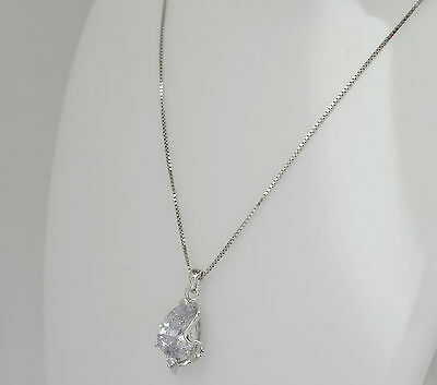 Womens Neckless with pendant - SOLID 925 sterling silver