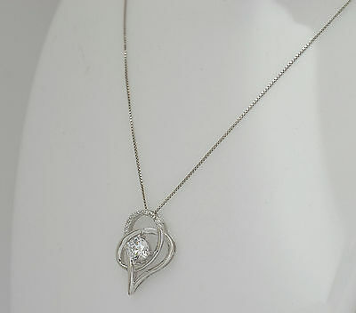 Ladies Neckless with pendant - SOLID 925 sterling silver