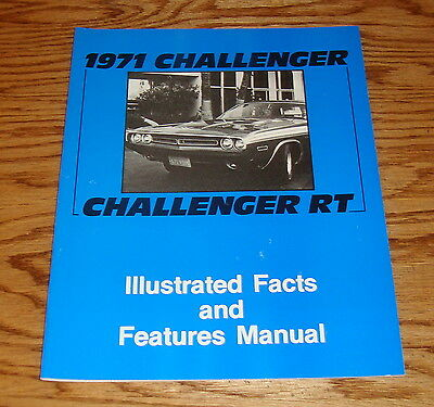1971 Dodge Challenger & Challenger RT Illustrated Facts & Features Manual 71