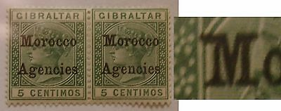 Morocco Agencies: 1899 SG9b 5c green with broad top to 'M'. Fine unmounted mint.