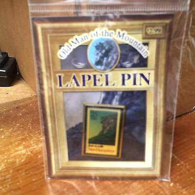 New Hampshire Stamp Pin Old Man Of The Mountain Lapel Pin