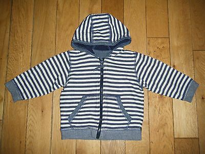 *matalan* Gorgeous Baby Boys Striped Hooded Zip Jacket Top Holiday/summer