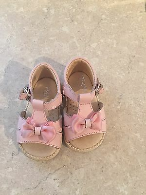 Designer Panyno Baby Girl Leather Sandals Size 18