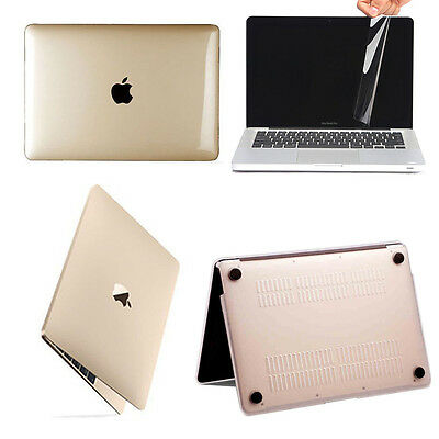 """Rubberized Hard Case+Screen Film Cover For Apple MacBook Air 11"""" 13"""" Pro 13 inch"""