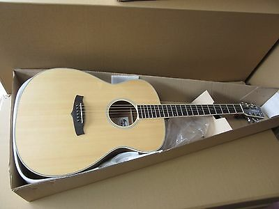 Distinctive Flame Maple Acoustic Folk Guitar, Natural Wood & Tuner Rp About £299