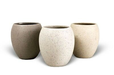Stone Effect Ceramic Bathroom Tumbler/Toothbrush Holder (Sand/White/Grey)