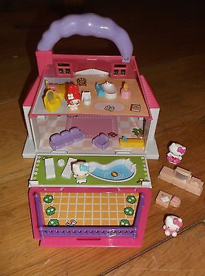 Hello Kitty Carry-Along House with figures and furniture