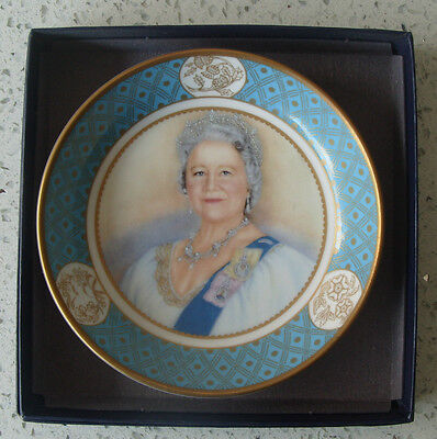 Royal Worcester 2002 dish- tribute to The Queen Mother-celebration of her life