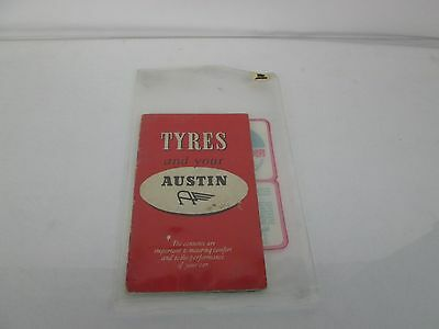 1955 Tyres And Your Austin Manual