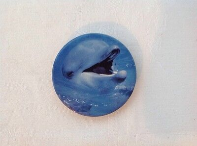 collectable metal Dolphin fridge magnet
