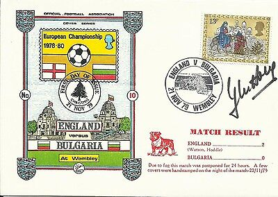 1979 ENGLAND v BULGARIA, EC cover, ORIGINALLY SIGNED by GLENN HODDLE!