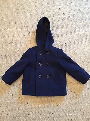 Girls Navy Blue Mothercare Coat 12-18 Months