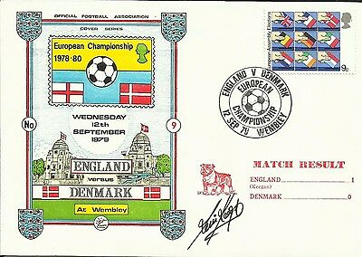 1979 ENGLAND v DENMARK, EC cover, ORIGINALLY SIGNED by KEVIN KEEGAN!