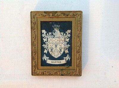 "collectable Coat of Arms, ""Baxter"" fridge magnet"