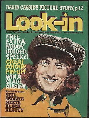 LOOK-IN #34 Aug 1973. SLADE PHOTO FEATURE & COLOUR POSTER. GREAT NOSTALGIA!
