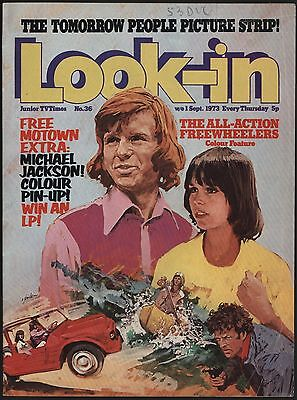 LOOK-IN #36 Sep 1973. YOUNG MICHAEL JACKSON FEATURE & COLOUR POSTER INTACT