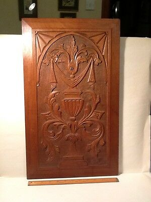 Mahogany Carved  Pannel.