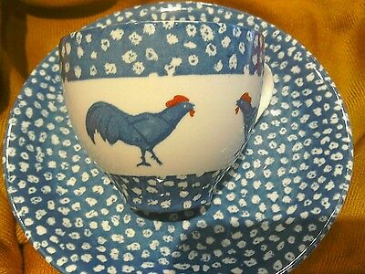 """Burleigh Cup & Saucer """"chanticleer icte by Alice Cotterell"""""""