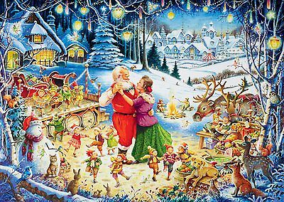 Puzzle Ravensburger 1000 Teile - Santa's Weihnachts-Party (55434)