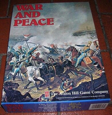 WAR AND PEACE - wargame  Avalon Hill - NEW!!!