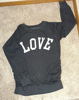 LOVE Maternity Sweatshirt perfect comfy and cute- small (5-6)
