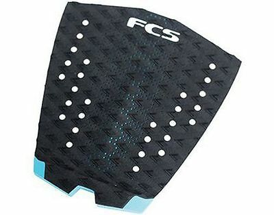 FCS T1 Essential Series Surfboard Deck Traction Tail Pad Black Teal