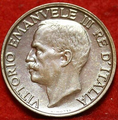 Uncirculated 1922 Italy 10 Centesimi Foreign Coin Free S/H