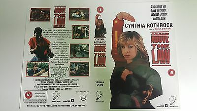 ABOVE THE LAW Video Promo Sample Sleeve/Cover KUNG FU CYNTHIA ROTHROCK