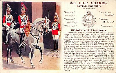 POSTCARD  MILITARY  HISTORY & TRADITIONS  2nd    LIFE    GUARDS