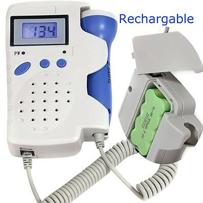 Angelsounds Jpd-100B Fetal Doppler 3Mhz W/battery, Charger, Gel New Approved Fda