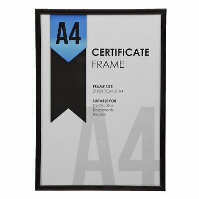 Lifestyle Brands A4 Certificate Frame Black