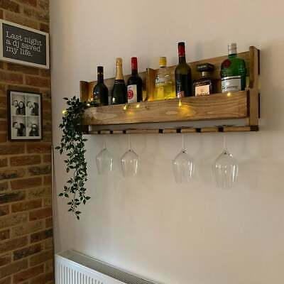 Large dark rustic reclaimed quirky pallet wood wine prosecco rack bespoke