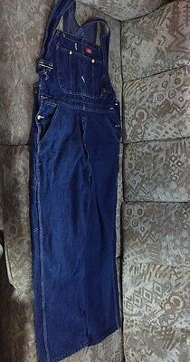 Dickies Men's Overalls Coveralls Size 34x32 100% Cotton