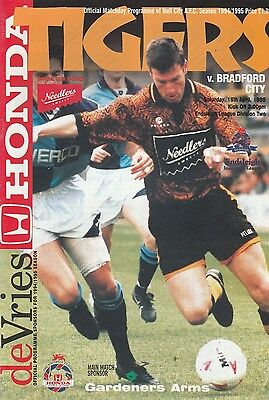 HULL CITY v BRADFORD CITY. Division Two 1994/95