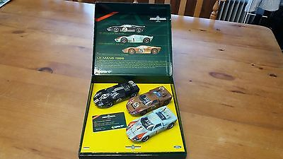 SCALEXTRIC 1:32  WINNING LE MANS FORD GT 40's 1966 LIMITED EDITION GOODWOOD 2003