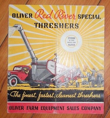 Old Oliver Red River Special Threshers Farm Equipment Catalog Tractor Booklet