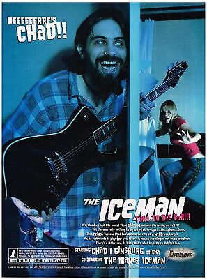 Ibanez Guitars - Iceman - Chad I Ginsburg of CKY - 2003 Print Advertisement
