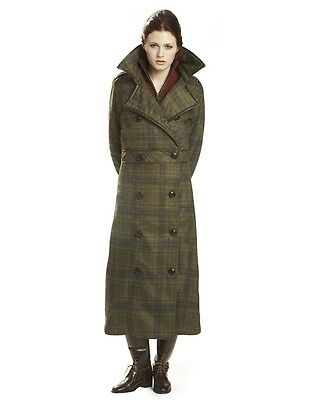 Gersemi Isabella Long Padded Ladies Coat Moss Plaid S or M